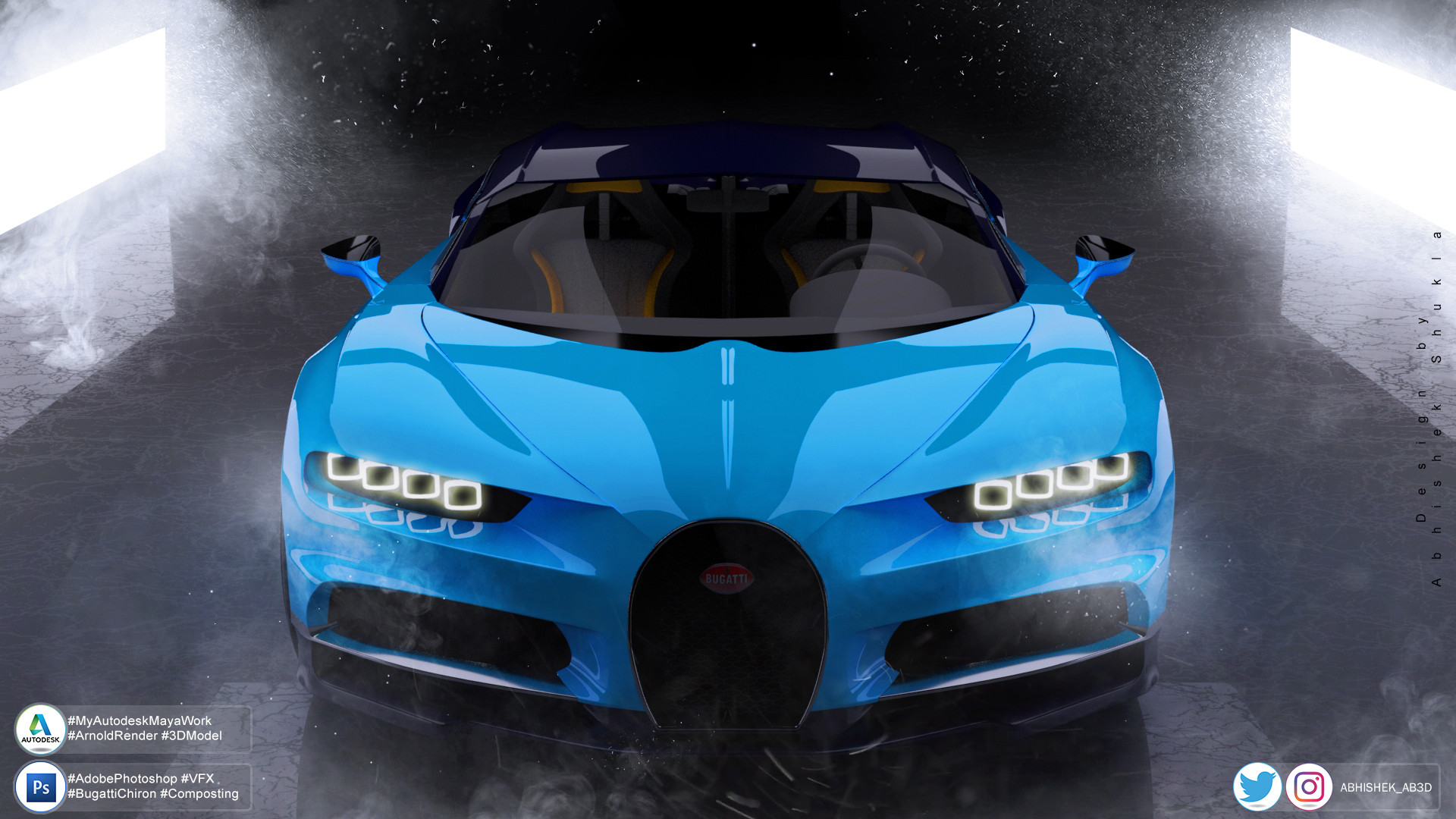 Artstation Bugatti Chiron Visualisation Art Abhishek Shukla