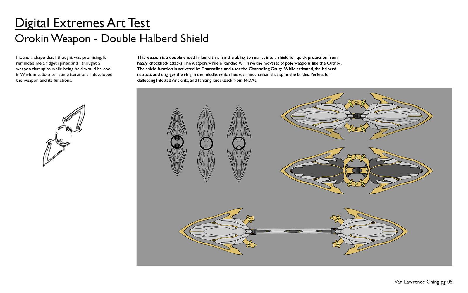 Digital Extremes Art Test: Orokin Weapon