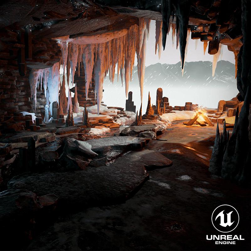 [UE4] Realtime Cave Scene - Absolute Zero