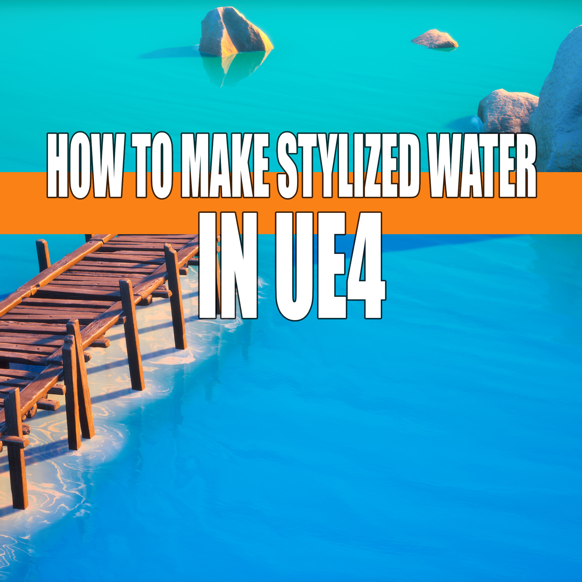 ArtStation - How to Make Stylized Water In UE4 with Project