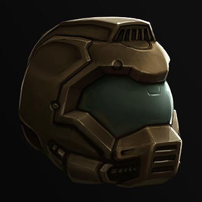 Artstation Doom Helmet Demake Renier Banninga