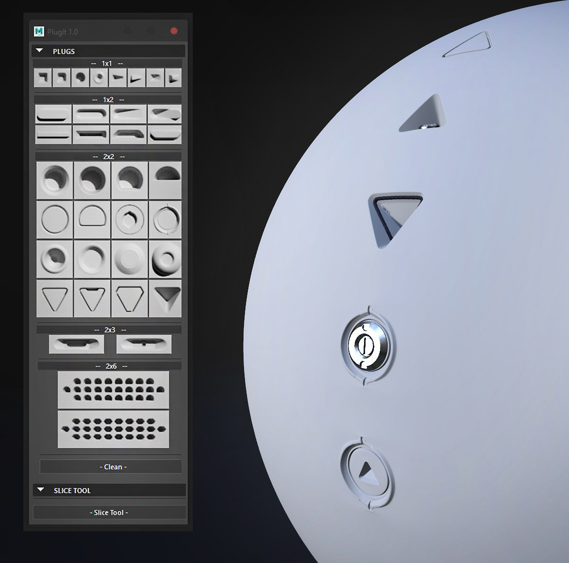 Script PlugIt - Hard Surface Modeling Plugs for Maya - Gumroad