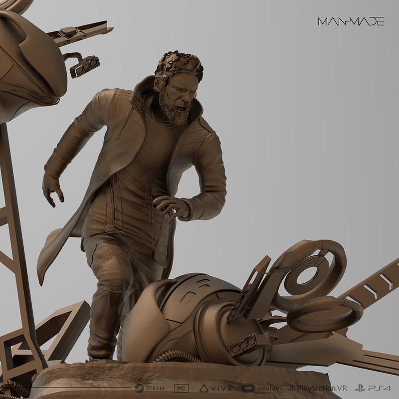 Kaan Premium Statue Design for Kickstarter Reward for ManMade: SciFi Action Adventure Game(30cm)
