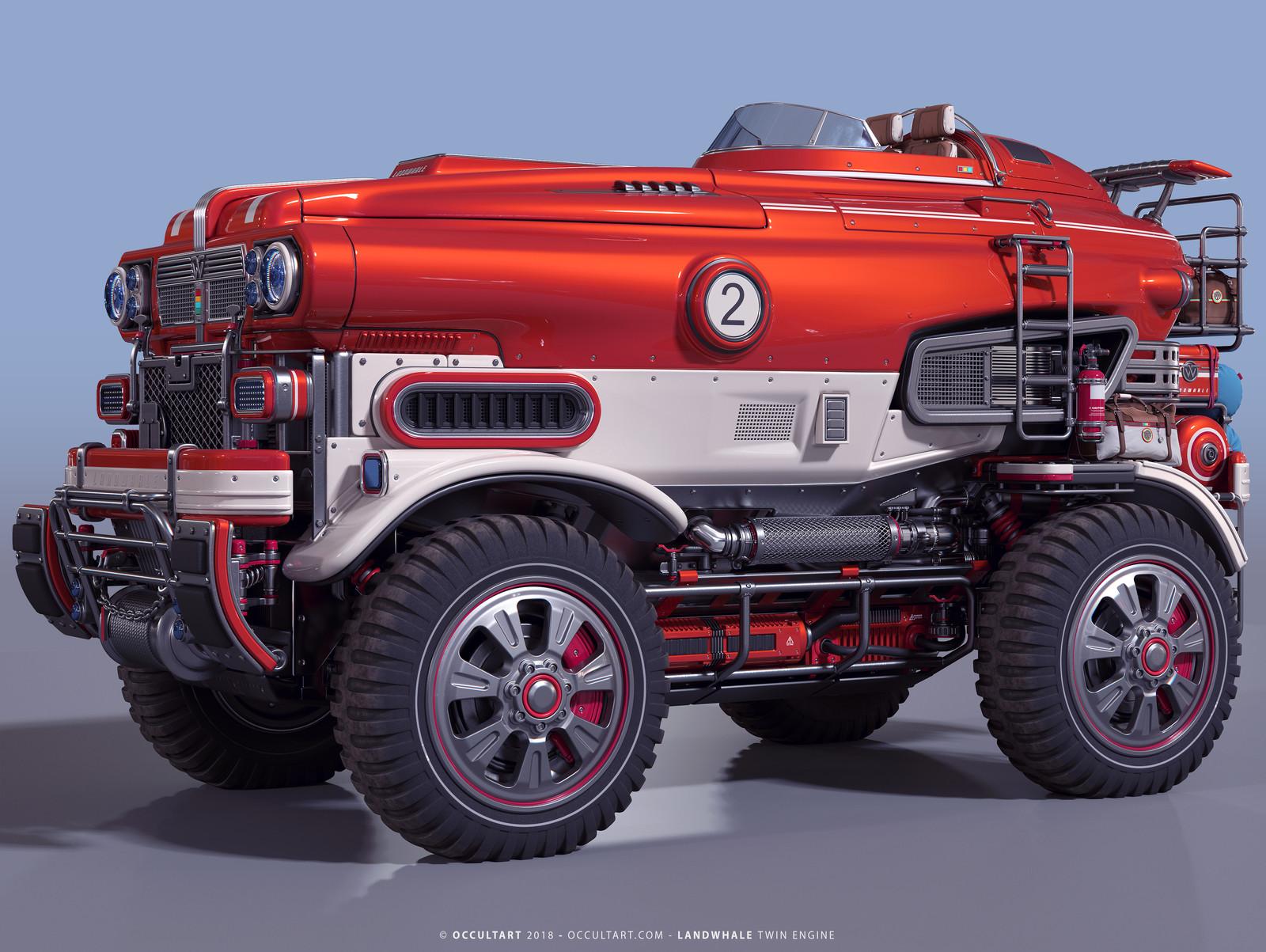 Firewhale - Corona Render