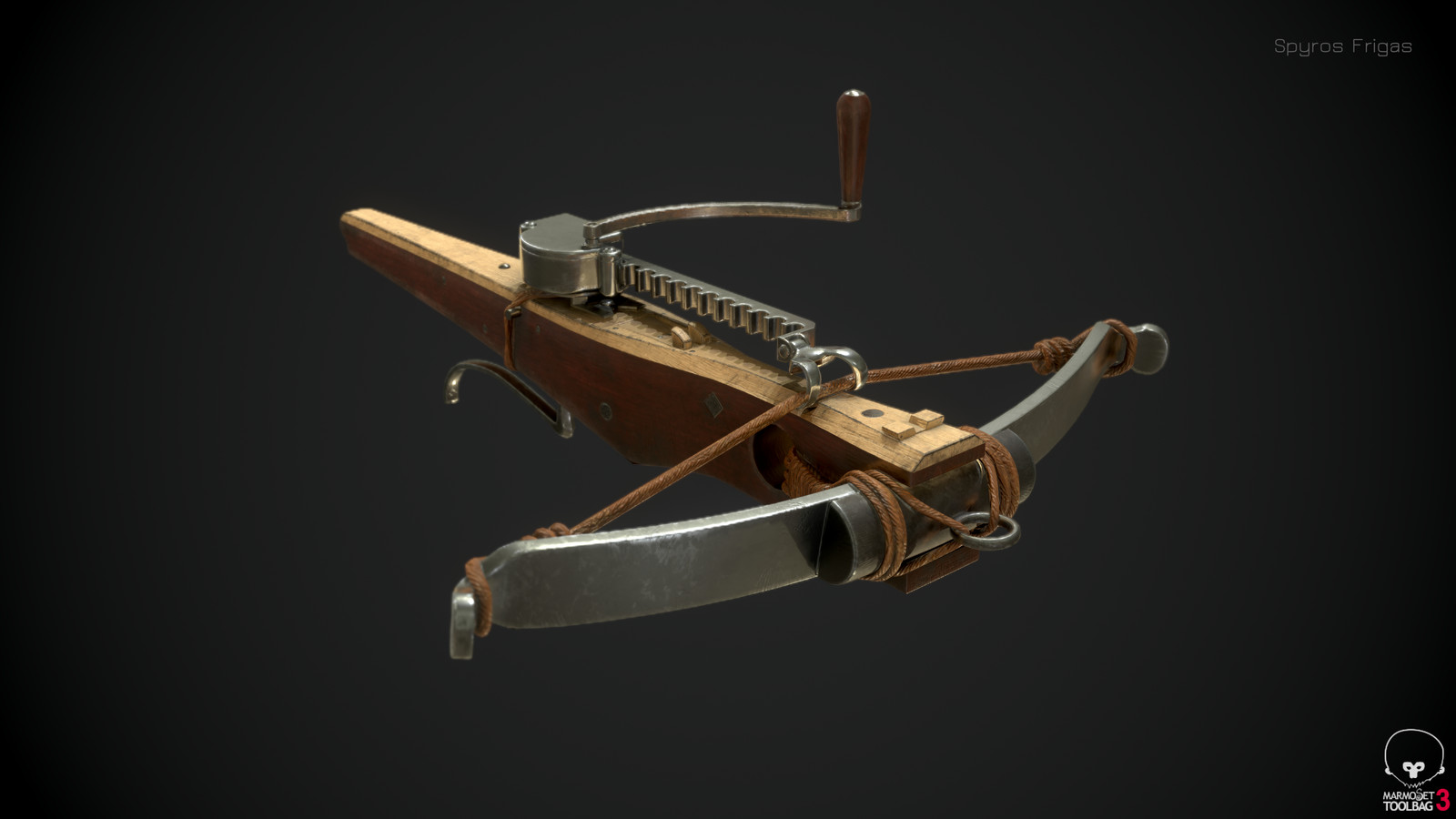 Medieval cranequin crossbow (16th century)