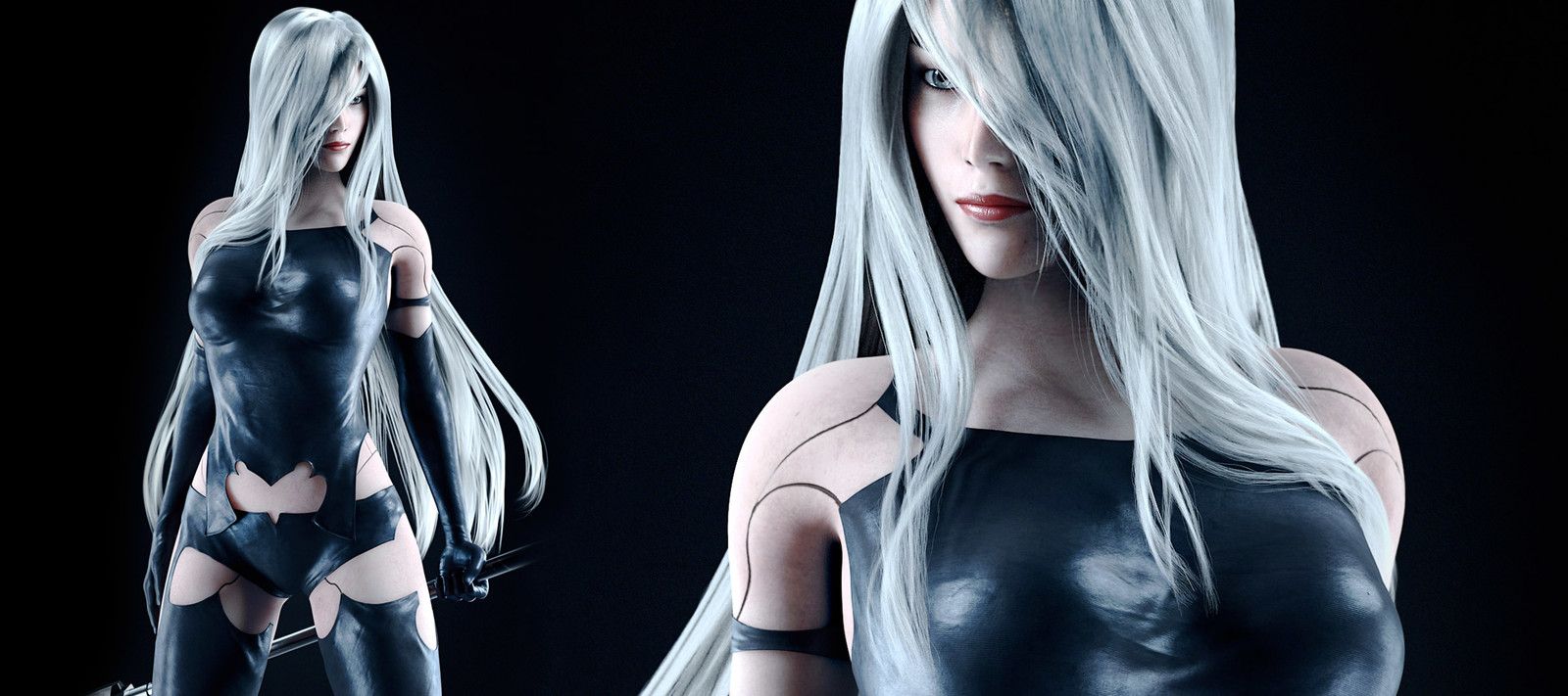 NieR Automata - A2 Character Creation with Maya- Tutorial