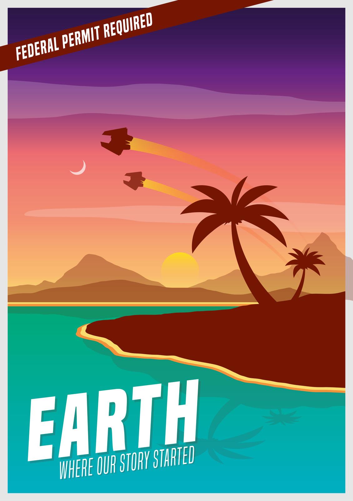 Elite Dangerous - Earth Tourism Poster