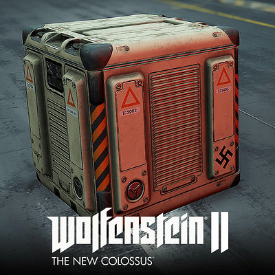 Wolfenstein 2: Gameplay Crates Lowpoly