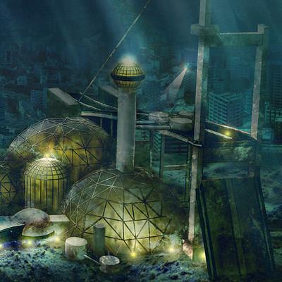 Ozgur serdar ozart futuristic underwater scene