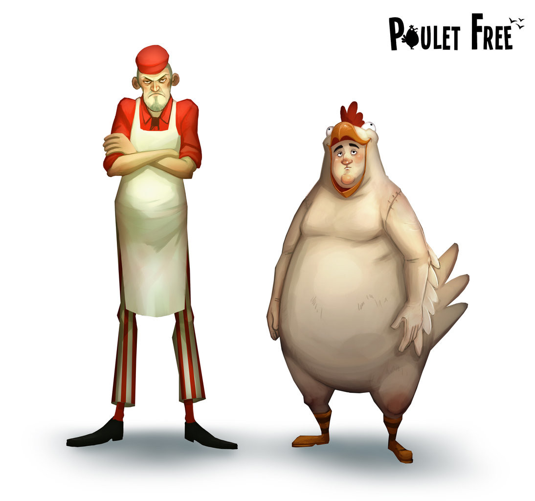 Poulet Free - Characters