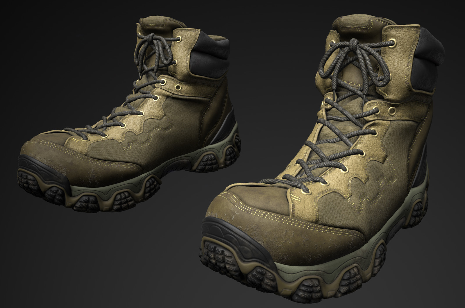 ArtStation - Tactical hiking boots , Kenzie LaMar