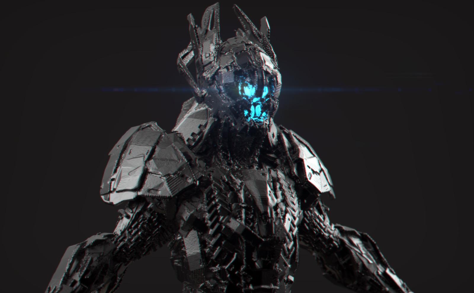 Tech Soldier 3D coat concept design