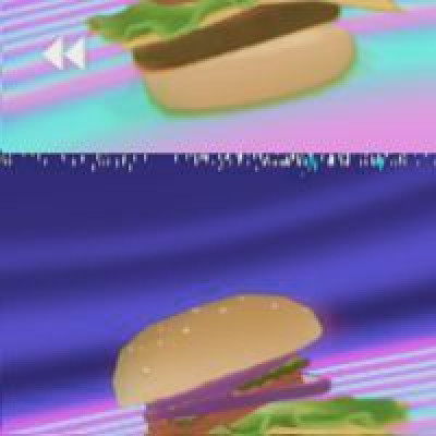 Themed challenge: Vaporwave Food (simplecg)