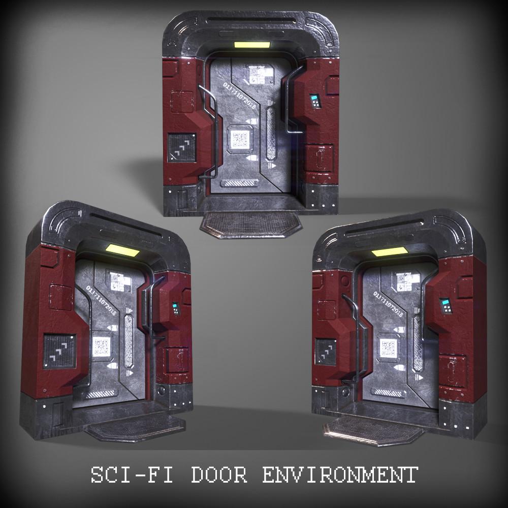Sci-Fi Door Environment
