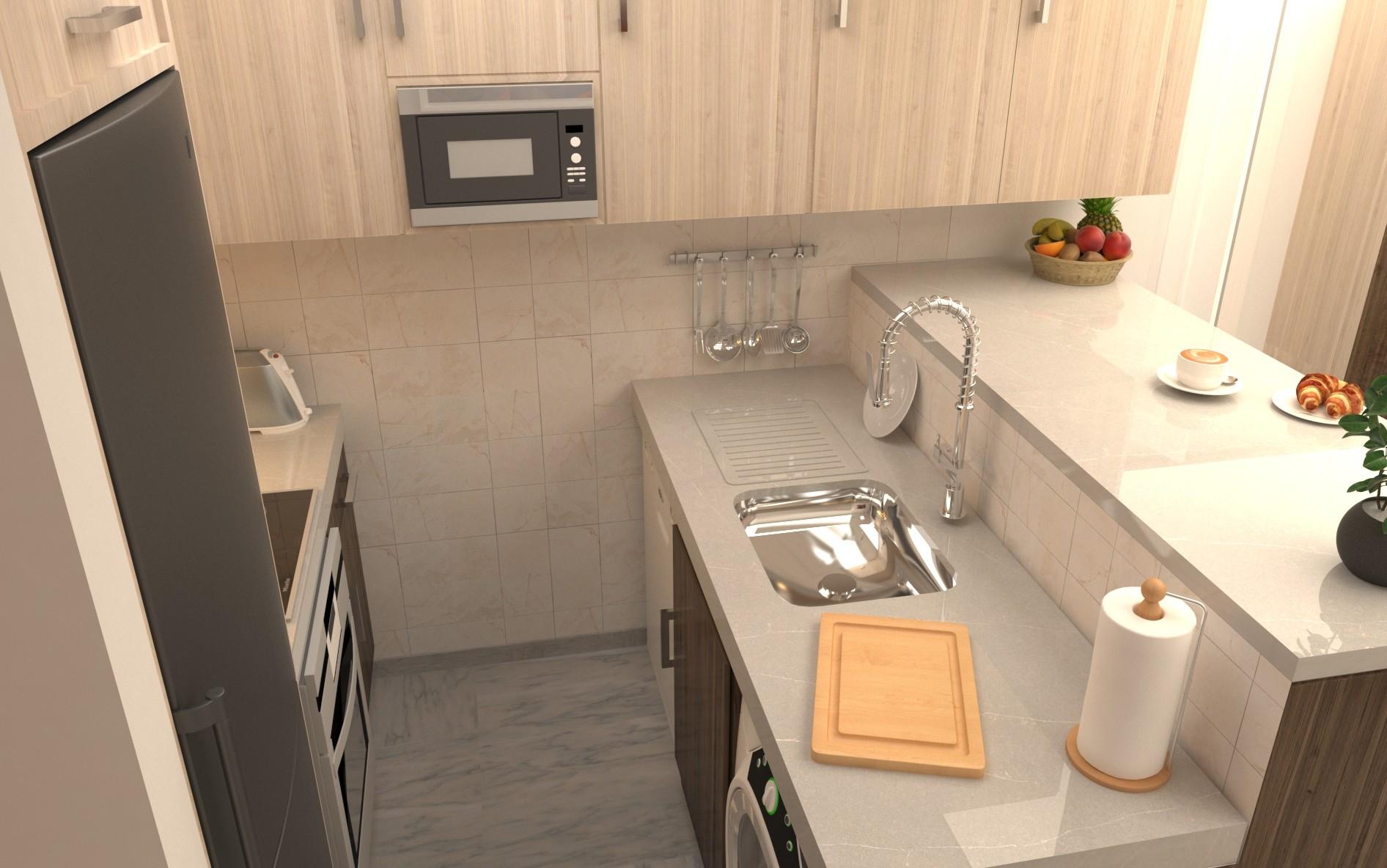 Salvador Pérez Ávila Reform Of My Own Apartment Living Room And Kitchen