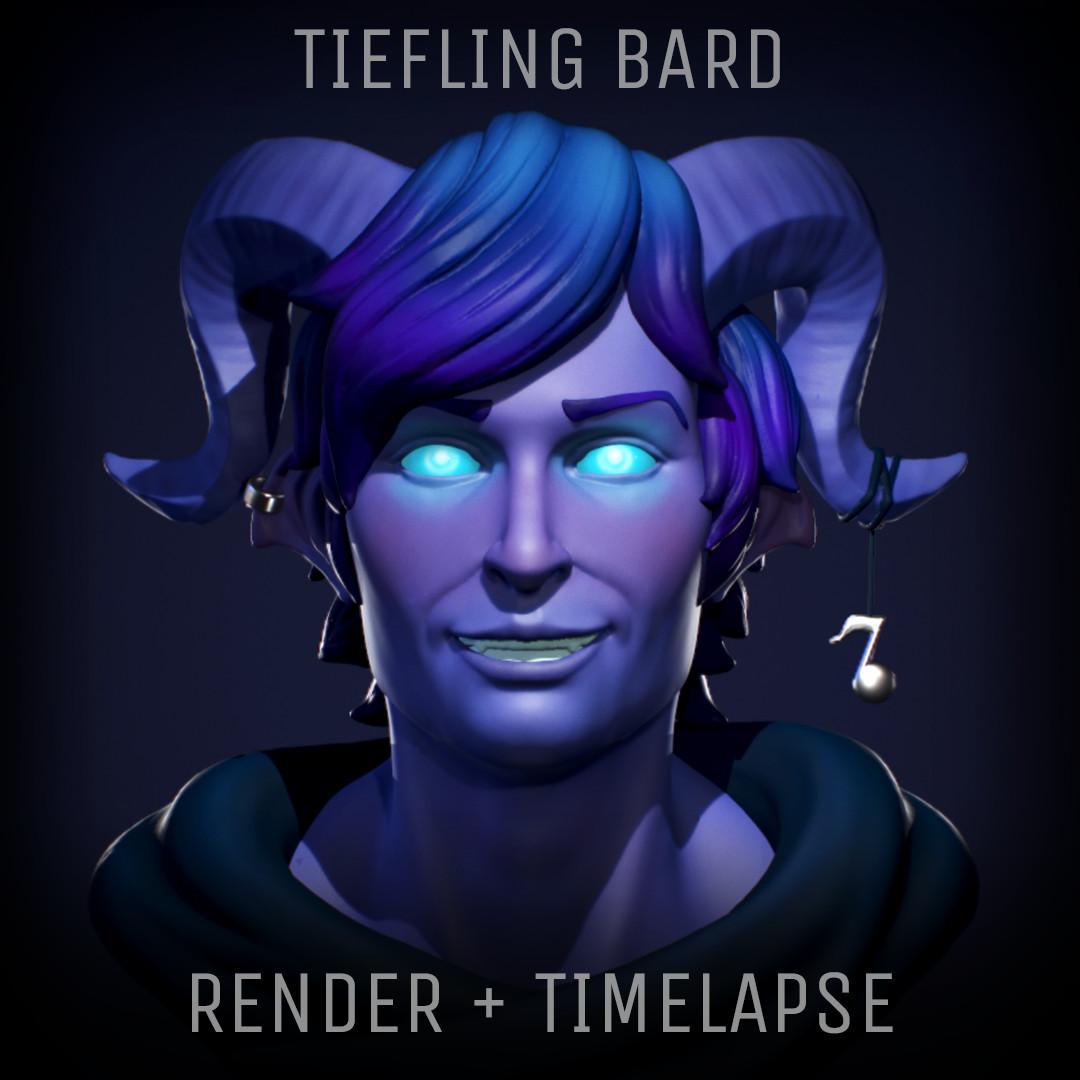 Tiefling Bard - Render + Timelapse