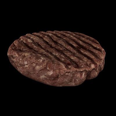Carlos faustino raw hamburger 3d model low poly obj 3ds fbx mtl 2