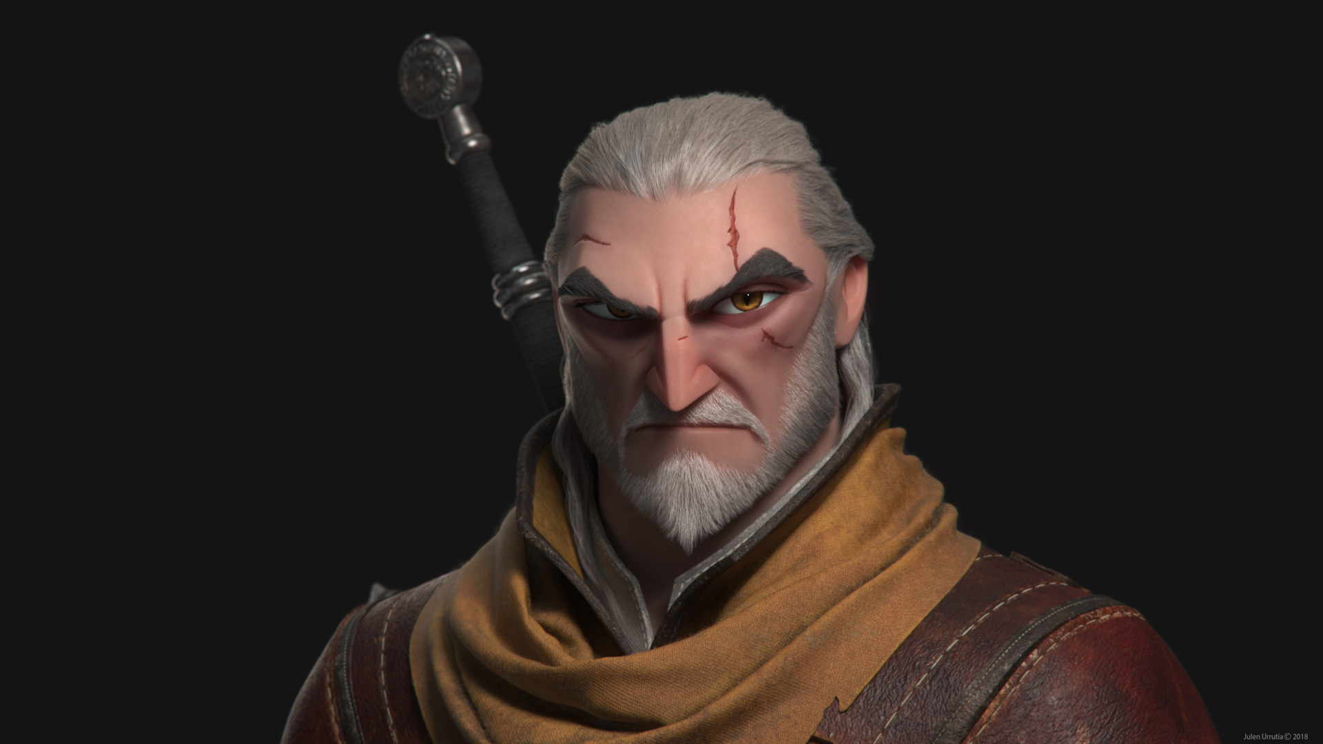 Artstation Geralt Of Rivia The Witcher Iii Wild Hunt