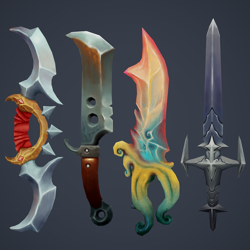 Hand Painted Swords