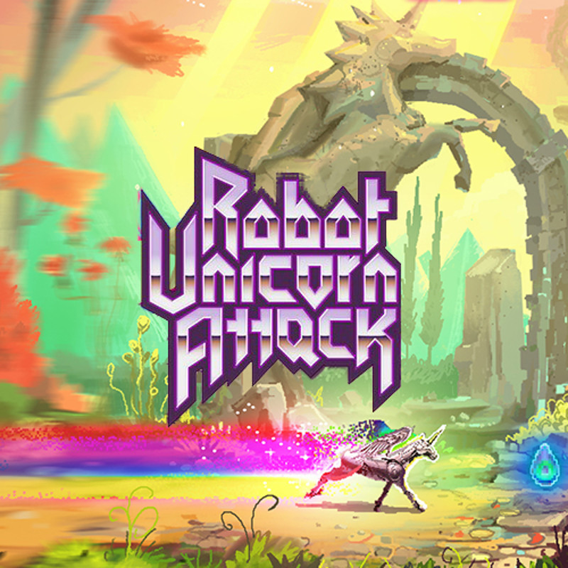Robot Unicorn Attack - Pixel Art
