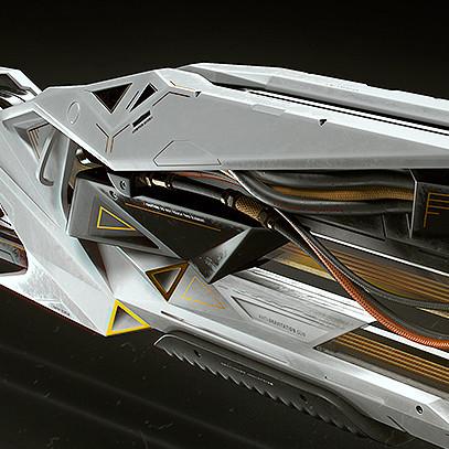 Anti-Gravitation Gun concept | gameready model