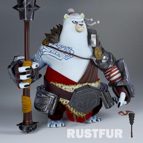 [ FAN ART ] Rustfur the bear warrior in 3D ! 2D original concept from Youssef Zamani