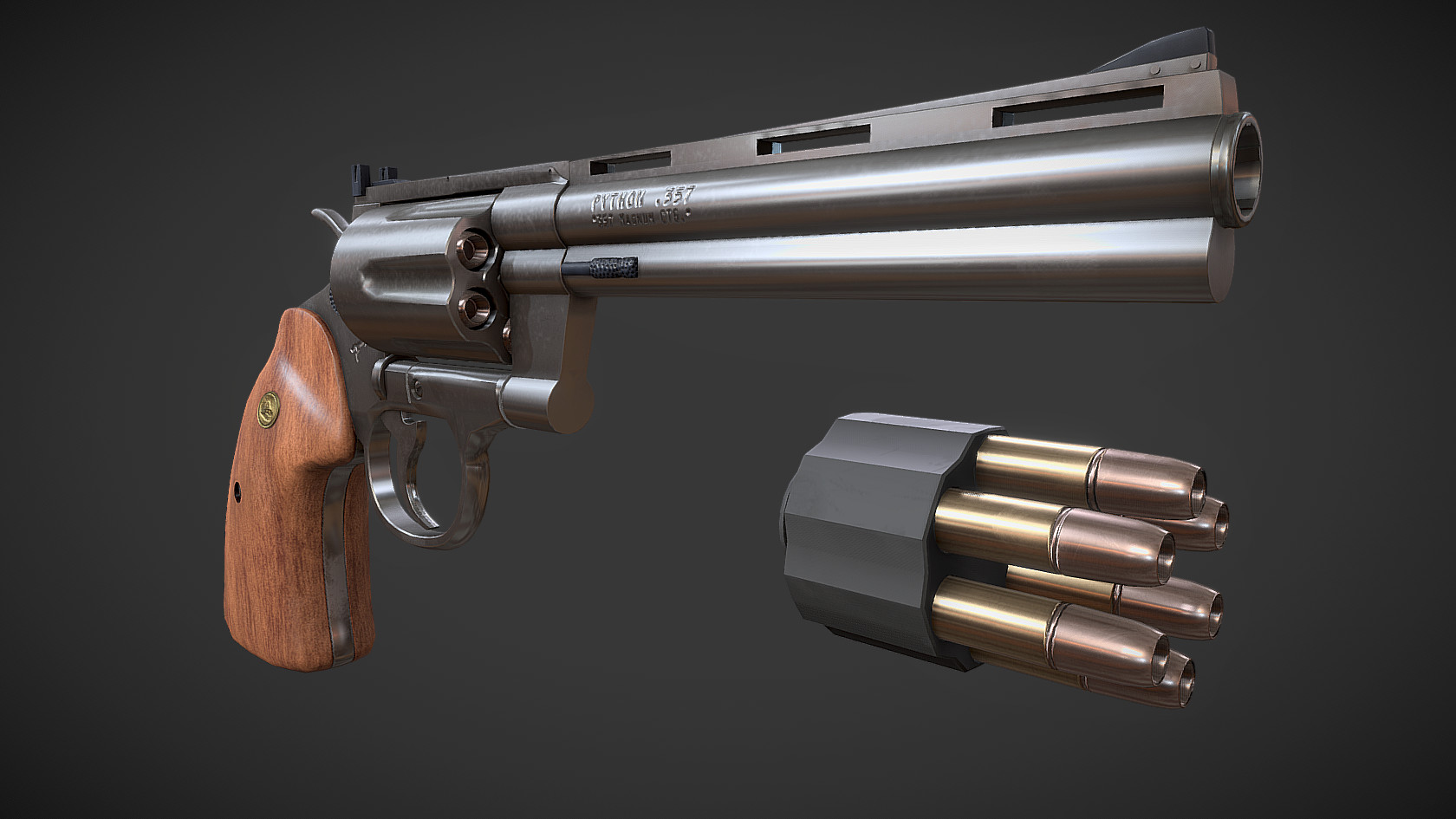 ArtStation - Colt Python 357, Jesper Enbom