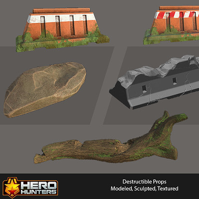 Hero Hunters - Destructible Props