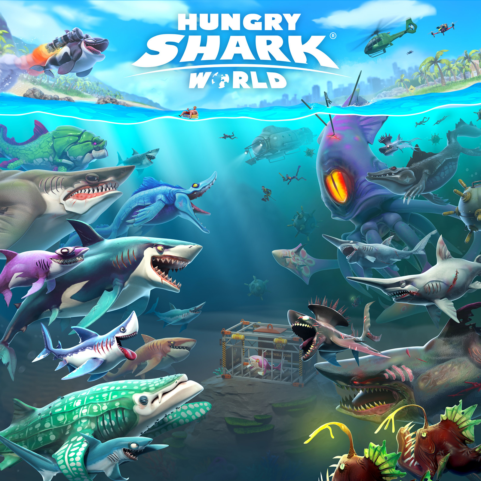 Hungry Shark World Keyart