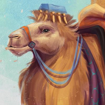 Alessia cimata cammello con sfondo