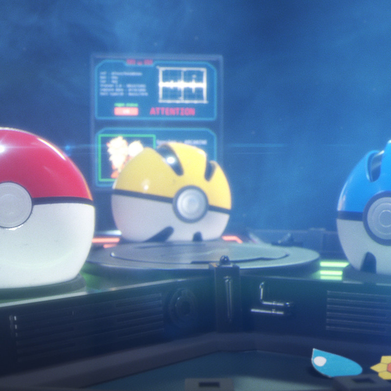 Pokeball healing table