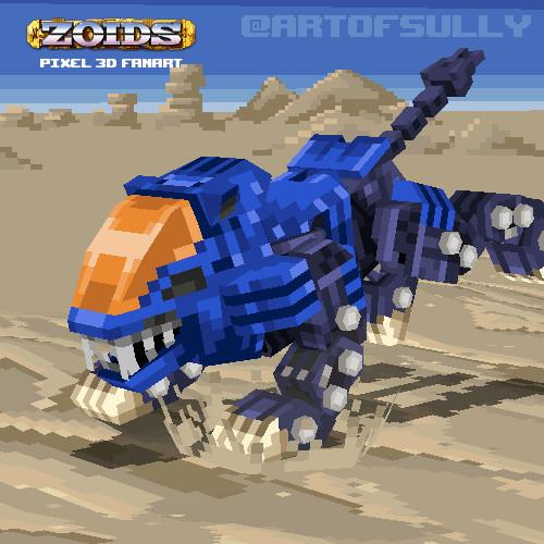 Shield Liger - ZOIDS Lowpoly Pixel Fanart
