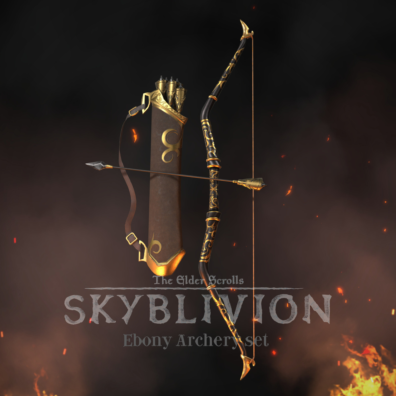 Ebony Archery set - TES:Skyblivion