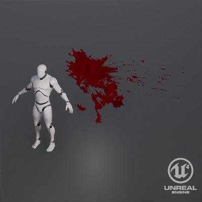Stylized Blood Splash VFX