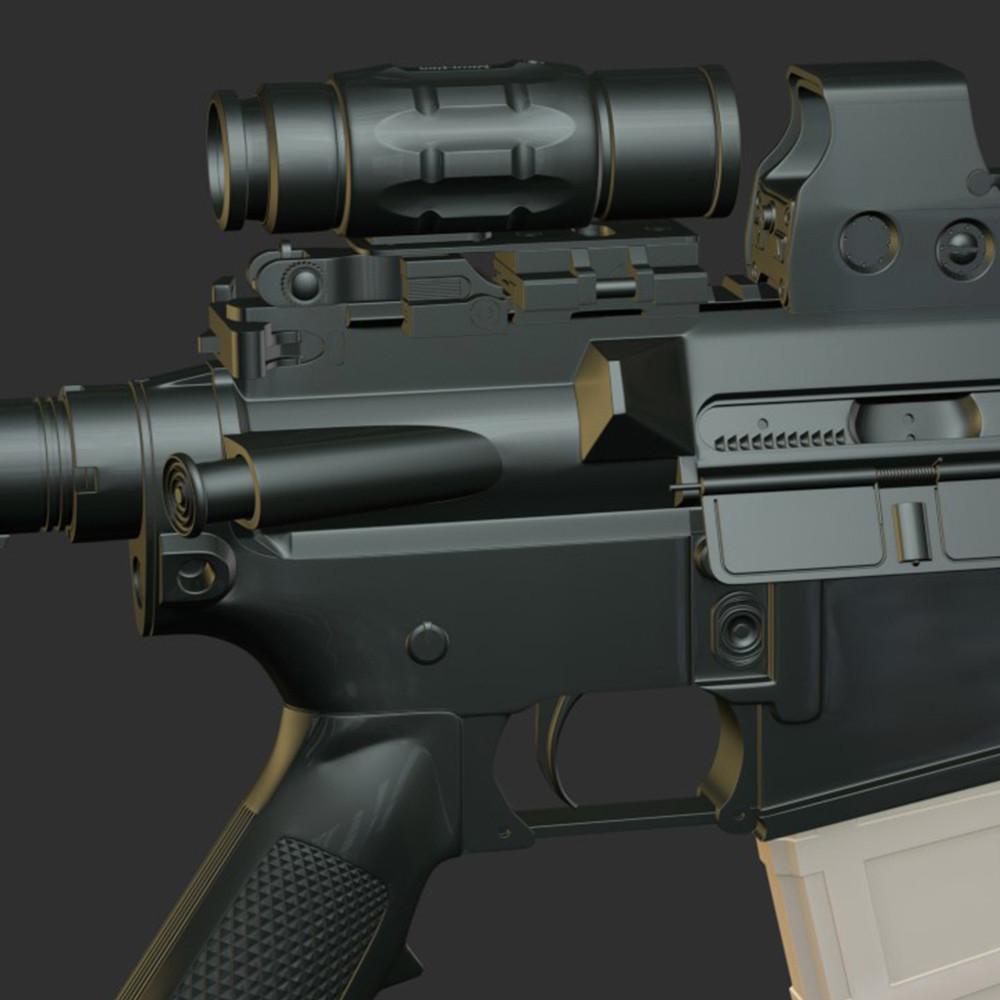 M400 AR High Poly