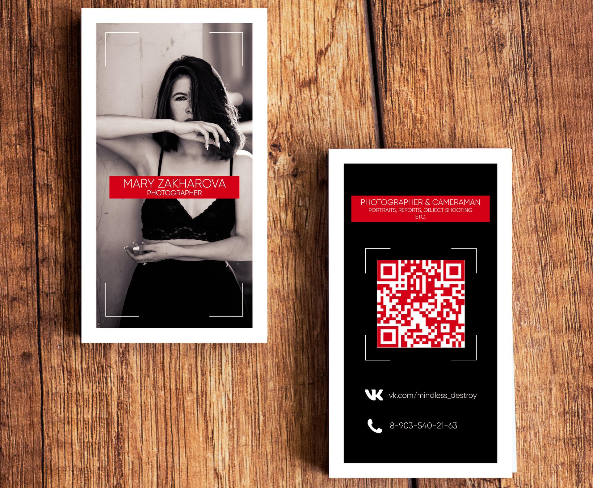 ArtStation - Photographer's Business Card, Negedozz Studios