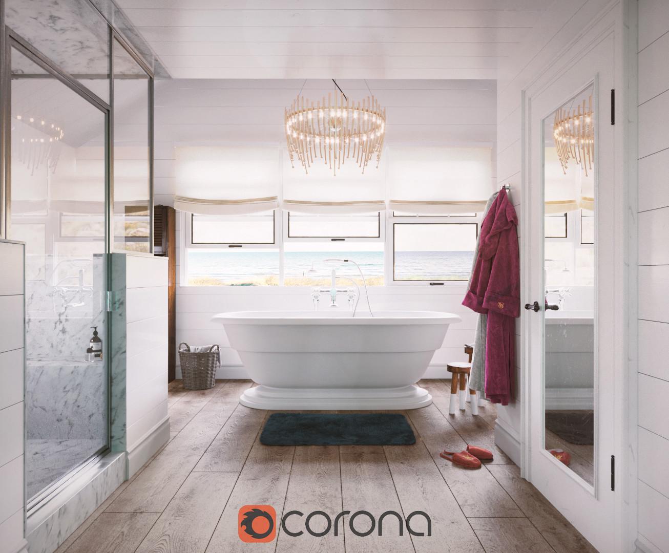 Cozy Bathroom 2018 - Corona Renderer