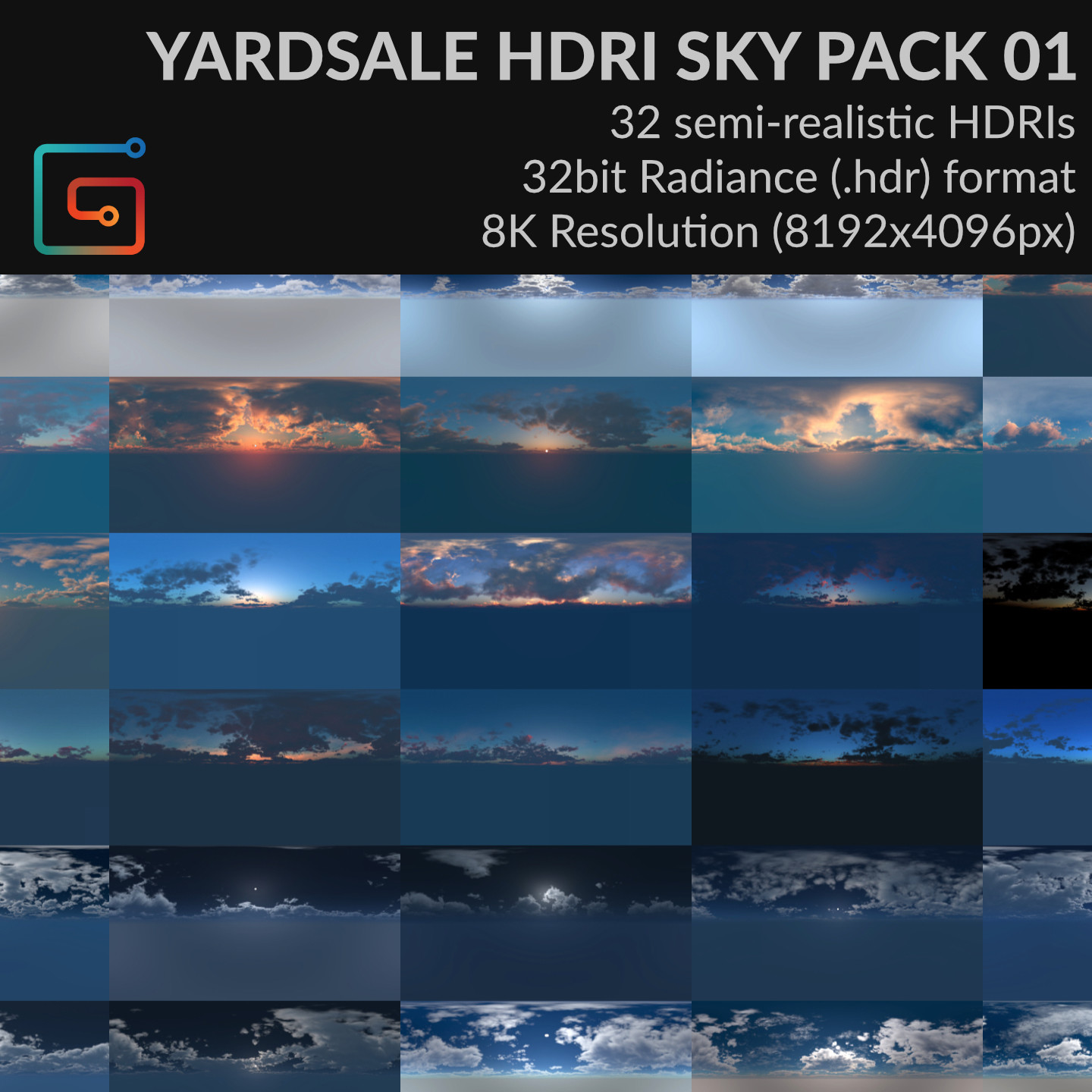YARDSALE : HDRI SKY PACK 01