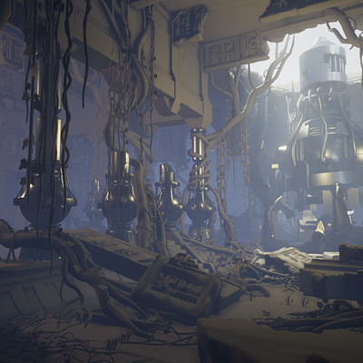 Lighting Scene - Using Allegorithmic's Atlantis Scene