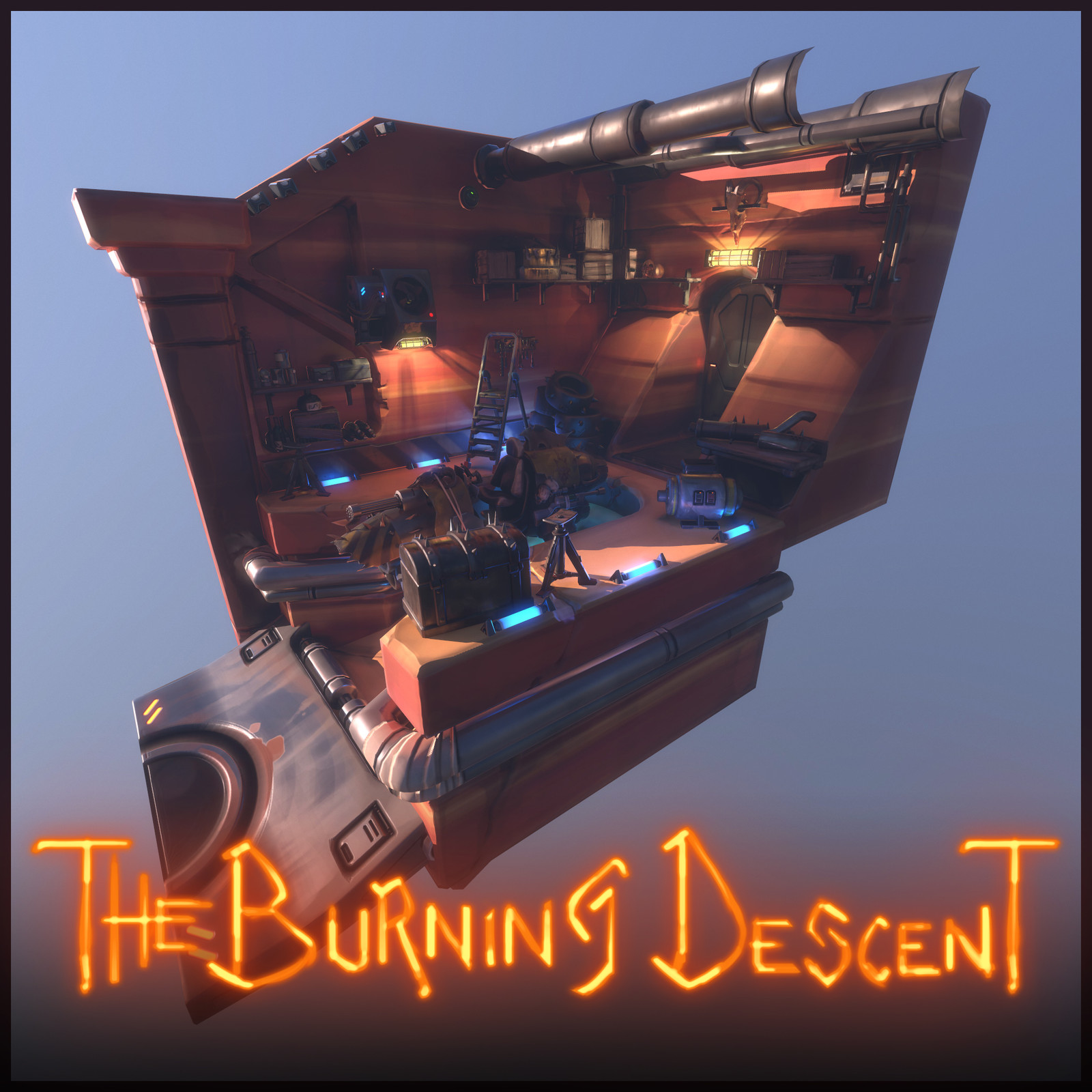 The Burning Descent | Environment Stuff