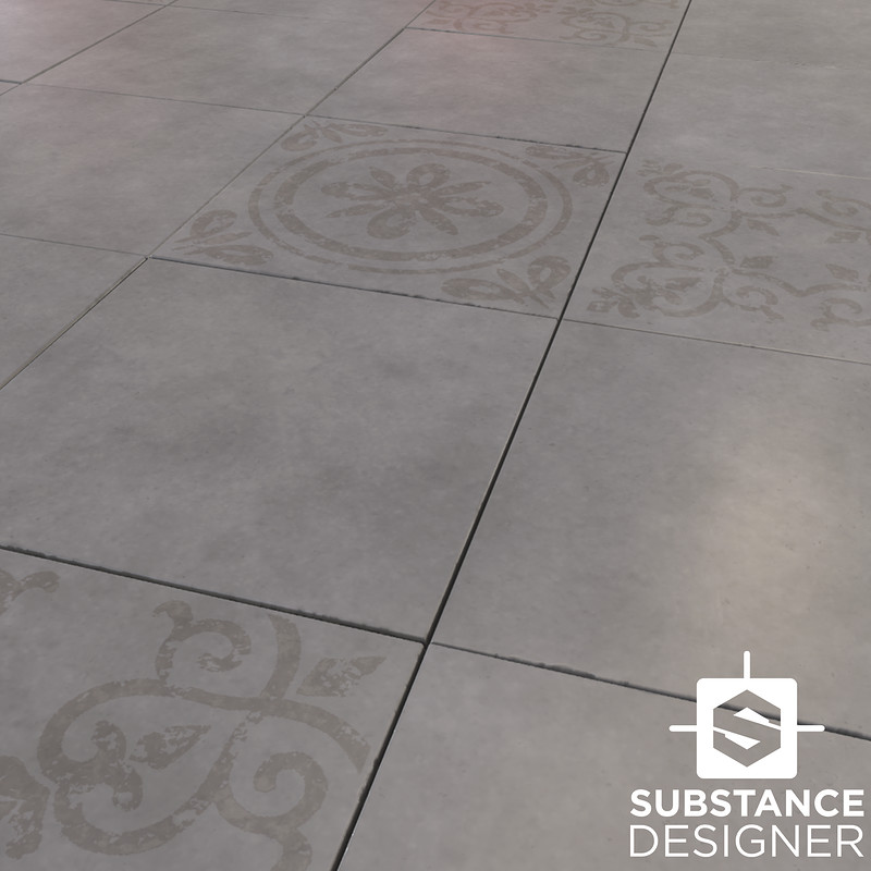 Ornate Polished Concrete Slabs