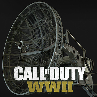 Call of Duty: World War II Flak Tower Building Radar Prop