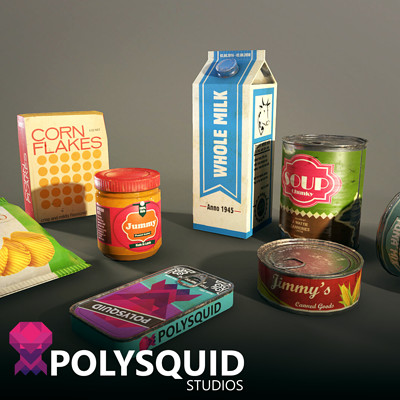 Poly squid cans artst