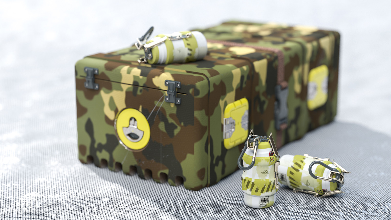 Cycles 4D Hand Grenade and Ammo Box