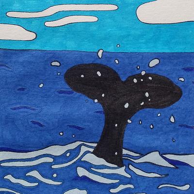 Audrey schindler inktober 2018 jour 12 whale vignette