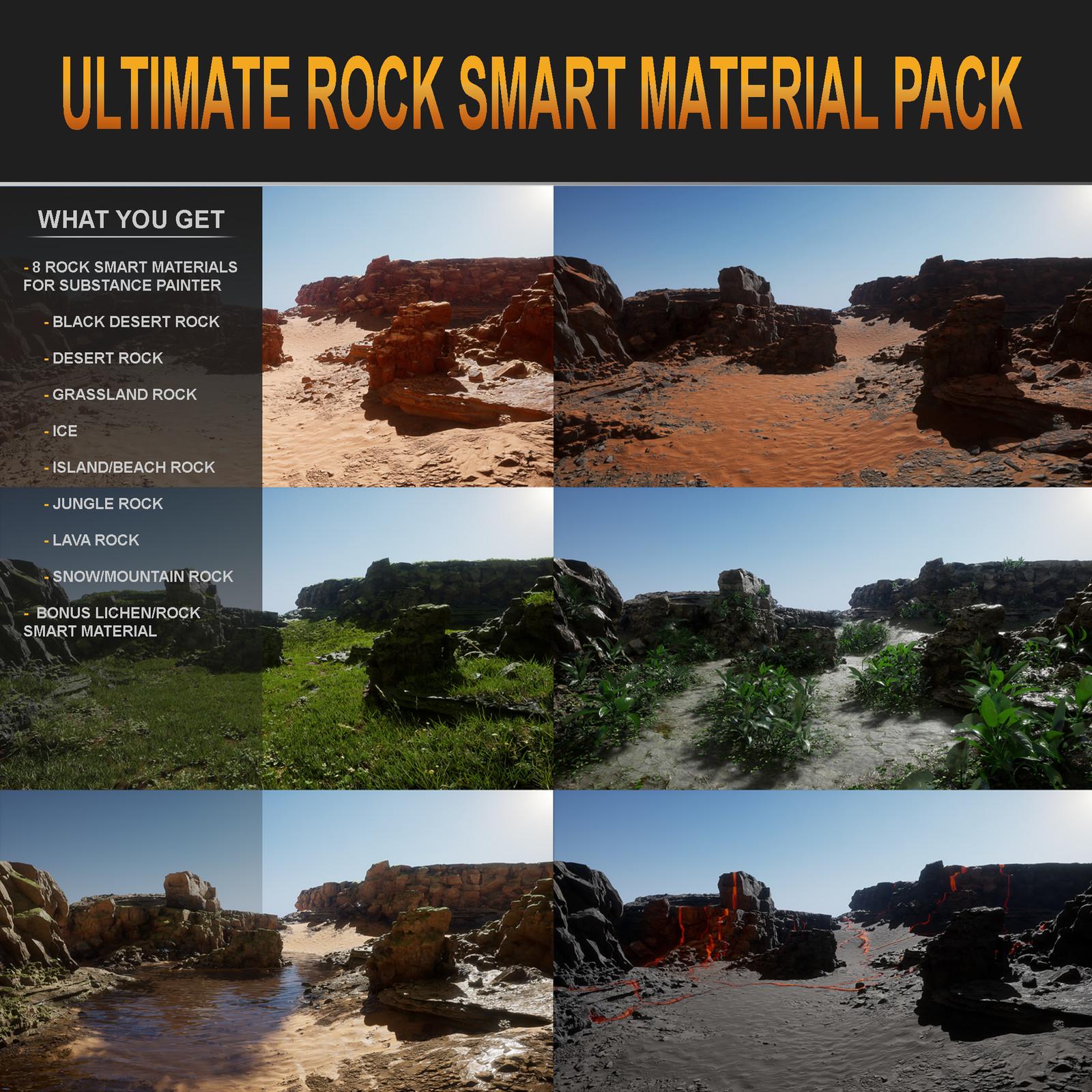 Ultimate Rock Smart Material Pack