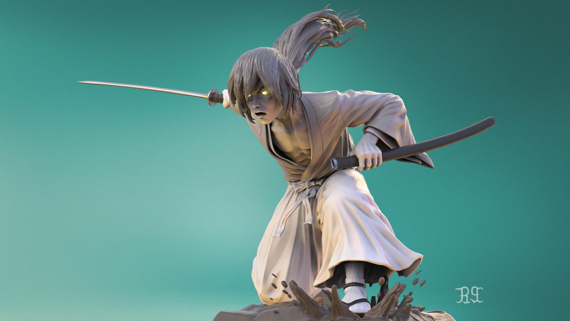 Artstation Kenshin Himura Sm Bonin