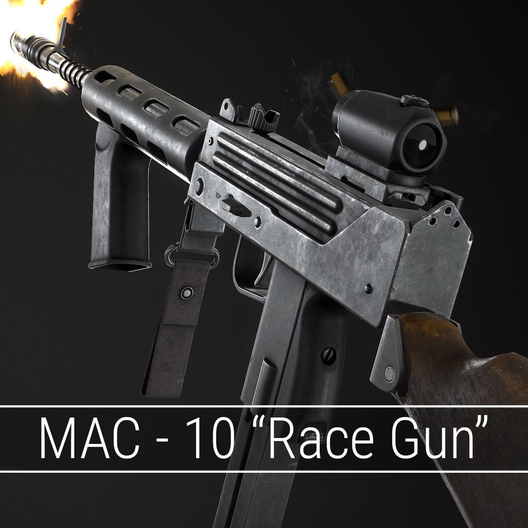 """MAC -10 """"Race Gun"""""""