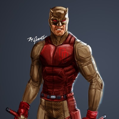 Netflix Style Daredevil Yellow Suit (Personal Sketch)
