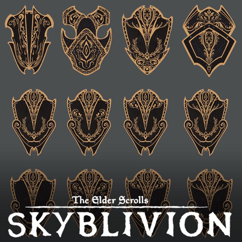 Skyblivion - shields